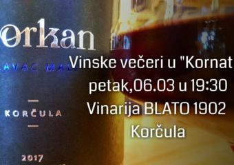 """Sljubljivanje gastro specijaliteta restorana """"Kornat"""" u Zadru sa vrhunskim vinima Blato 1902 d.d."""
