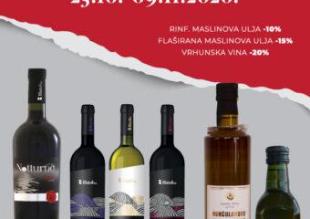 Akcijska ponuda vrhunskih vina i maslinova ulja